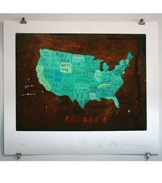 catbird::shop by category::CARDS & ART::Places in America Map    we should get on for europe, too :)