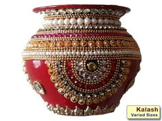 Viva Creatives deals with creativity. We create art that decors your home. Contact us with your specialize home decor needs Kalash Decoration, Thali Decoration Ideas, Diy Diwali Decorations, Festival Decorations, Handmade Decorations, Wedding Decorations, Coconut Decoration, Diwali Craft, Indian Crafts