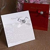 Wedding Invitation With Ribbon and Lace - Set... – USD $ 39.19