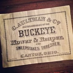 Finished this up to sell at a local shop.  I'm native buckeye to the bone.  #typehunter #vintagetypography
