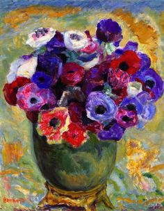 View Anémones by Pierre Bonnard on artnet. Browse upcoming and past auction lots by Pierre Bonnard. Pierre Bonnard, Art Floral, Paul Gauguin, Henri Matisse, Oeuvre D'art, Painting Inspiration, Painting & Drawing, Painting Lessons, Flower Art