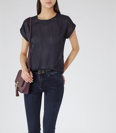 Women's Clothes - Trendy Fashion Clothing For Sale Online Reiss Looks, Navy Women, Work Wardrobe, Trendy Outfits, Weave, High Fashion, What To Wear, Fashion Inspiration, Women Wear