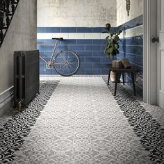 Johnson Tiles Factory Outlet provides top quality wall and floor tiles, from the UK's leading manufacturer Room Wall Tiles, Ceramic Wall Tiles, Wall And Floor Tiles, Patterned Wall Tiles, Tiled Hallway, Hallway Paint, Dark Hallway, Hallway Console, Console Table