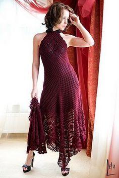 Graficos y Crochet: vestidos para dama