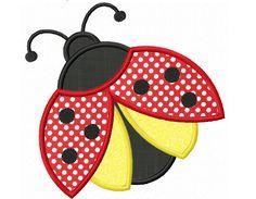 Instant Download Ladybug Applique Machine Embroidery Design NO:1296