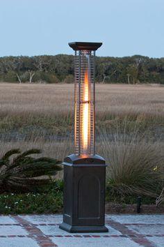 Fire Sense Square Flame Propane Patio Heater   Mocha Finish (#60804)