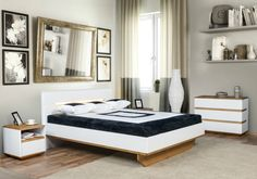 Modern bedroom with glamour details. Zebra Home Concept. #bedroomidea #KloseFurniture #woodenfurniture #glamourbedroom