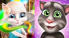 Funny My Talking cat TOM and My Talking Angela in Paris