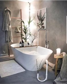 Sometimes we all just need a calming bath Awesome shot by ✨ repost from Tag us to be featured too Loft House, House Rooms, Interior Exterior, Bathroom Interior Design, Bathroom Goals, Dream Bathrooms, Bathroom Inspiration, Home Design, Modern Bathroom