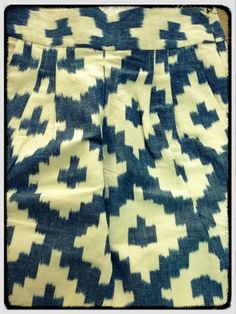 Cotton - linen slouchy pants  #handwoven #Ikat