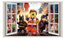 LEGO MOVIE WALL Decal Window View STICKER Decor Art Mural   #Oracal