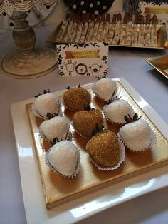 berries at a white, black and gold baby shower party! See more party planning ideas at ! Baby Shower Photos, Baby Shower Gender Reveal, Baby Boy Shower, White Baby Showers, Royal Baby Showers, Shower Party, Baby Shower Parties, Chocolates, Candy Buffet