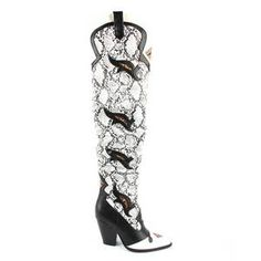 OHICHIIC NEW ARRIVAL SNAKE TOGGLE THIGH HIGH BOOTS - OhiChiic - Contemporary Women's Shoes at Affordable Prices