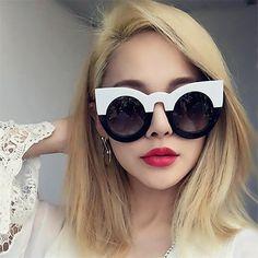 57c9c8904d US $2.59 22% OFF 2018 Thick Frame Cat Eye Sunglasses Women Ladies Fashion  Brand Designer Mirror Lens Cateye Black White Female Shades Sun Glasses-in  Women's ...