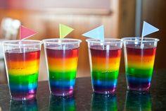 Decora tu mesa con un arcoiris | Cocinar en casa es facilisimo.com