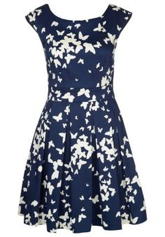 Cocktailkleid / festliches Kleid - navy cream