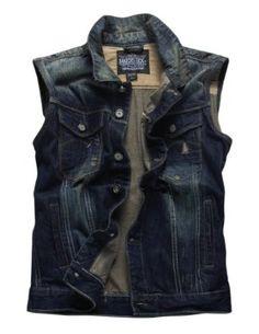 #Match Mens Retro Cowboy Denim Washed Waistcoat #Vest $35.99 - $43.99