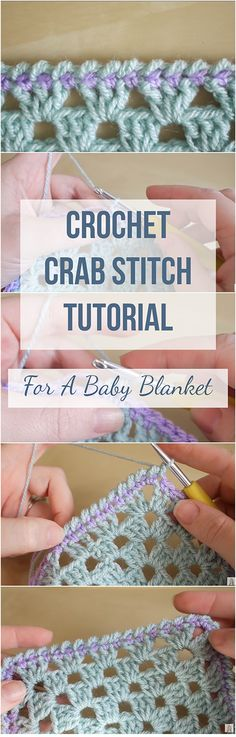 Crochet Crab Stitch Blanket ... Free Video, Free Tutorial - in other words, everything you need in order to learn how to crochet crab stitch blanket! It's all here!!!  | Crochet Tutorials For Beginners | Stitch Tutorial | Free Video Crochet Tutorial | Free Step-by-step Tutorial Crochet | Free Crochet Tutorials For Beginners | Crochet Blanket For Free | Baby Blanket Free Video Tutorial | Crochet Baby Blanket | Crochet Crab Stitch Free Tutorial