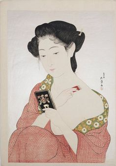 Kitagawa Utamaro (喜多川 歌麿?, ca. 1753 – October 31, 1806) was a Japanese printmaker and painter, who is considered one of the greatest artists of woodblock prints (ukiyo-e). His name was romanized as Outamaro. He is known especially for his masterfully composed studies of women, known as bijinga. He also produced nature studies, particularly illustrated books of insects.