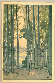Bamboo Grove - by Yoshida Hiroshi
