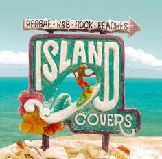 ISLAND COVERS ~ALOHA STYLE~   Sign made with clay & Hawaii sea photo  #art #music #cd #hawaii