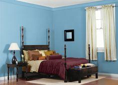 MASTER CLOSET // FRISKY BLUE (M490-4) Behr (my room is darker though)