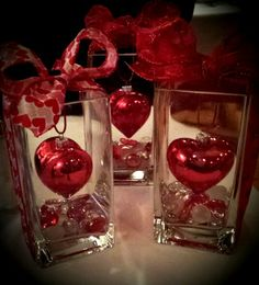 Valentines Day quick and easy table decoration