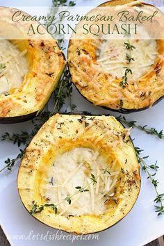 Creamy Parmesan Baked Acorn Squash on MyRecipeMagic.com
