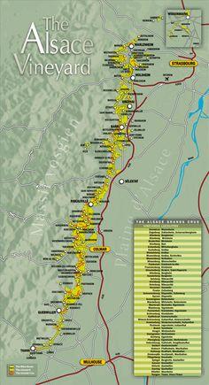 The Alsace wine route, Tourism - Vins d'Alsace, CIVA, grands crus, crémant, vendanges tardives, sélections grains nobles, riesling, gewurztraminer, pinot gris, pinot blanc, sylvaner, klevener