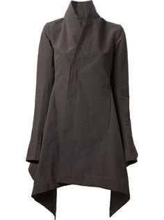 Rick Owens Fitted Peplum Coat