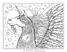 Trippy Coloring Pages | Fairy Unicorn Fuzzy Velvet Poster ...