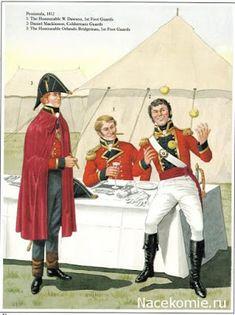 Peninsula 1812 Honourable W Dawson Foot Guards Mackinnon, Coldstream Guards Honourable Orlando Bridgeman Foot Guards British Army Uniform, British Uniforms, British Soldier, Men In Uniform, Military Art, Military History, Military Uniforms, Commonwealth, Independence War