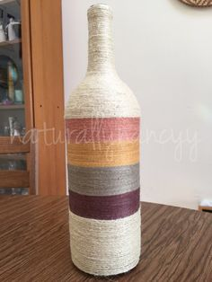 A personal favorite from my Etsy shop https://www.etsy.com/listing/226024602/decortive-twine-wrapped-wine-bottle-wine