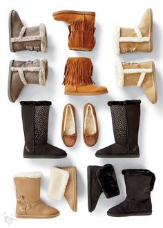 Kick off boot season in fur-lined boots with sparkle, buckles and fringe.