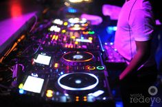 Erick Morillo's setup at LIV for Michael Bay's birthday, at the Fontainebleau Miami Beach.  #BleauLive #Fontainebleau