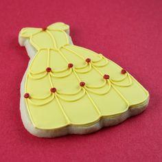 Belle Dress Custom Cookie by Alis Sweet Treats (Andrea), via Flickr