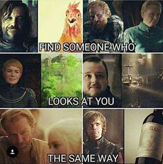 game of thrones - I love that only 2 of the 6 pictures are looking at another person.
