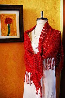 easy crochet shawl (a few sittings for a beginner, one sitting for a vet)
