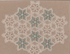 Tatted  DOILY  readymade Tatting  Ecru/Sage  4 Any di lacemakermom