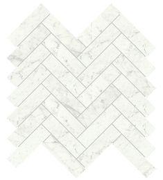 Fiskbenspakett Carrara marmor Vit blank hos Stonefactory.se