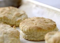 Yes, it's fun to try out exciting new recipes, but sometimes what you need is some old-fashioned home cooking. And is there really any better comfort food than a hot-out-of-the-oven buttery biscuit? We think not. Here, an easy, three-ingredient recipe for perfect, golden-brown biscuits, just like Grandma used to make.   What You Need:  - 4 cups self-rising flour  - 1½ cups buttermilk  - ½ cup shortening, melted  - a sifter  - a round cookie cutter   Step 1: Preheat the oven to 500°F. While…