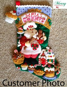 Santa's Sweet Shop Bucilla Stocking, Customer Photo