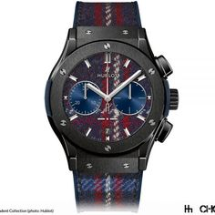 Watchmaker Hublot has paired with eyewear brand Italia Independent and renowned Italian tailor Rubinacci to create their latest range of time pieces. Obviously taking key design elements from high fashion fabrics, these aren't your typical