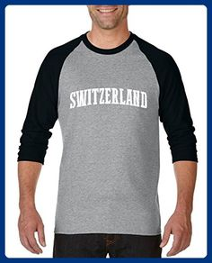 Ugo What to do in Switzerland? Travel Time Flag Map Guide Flights Top 10 Things To Do Unisex Raglan Sleeve Baseball T-Shirt - Sports shirts (*Amazon Partner-Link)