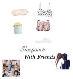 """Sleepover with friends"" by styleluxjstyle on Polyvore featuring Moschino, Puma and The Hampton Popcorn Company"