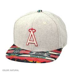 The Los Angeles Angels of Anaheim Spice Snapback Baseball Cap is part of American Needle's Cooperstown Collection. Perfect for the winter, this wool snapback comes complete with Native American tribal print on the flat bill of the ball cap as well as a raised embroidered team logo that is featured on the front of the hat.