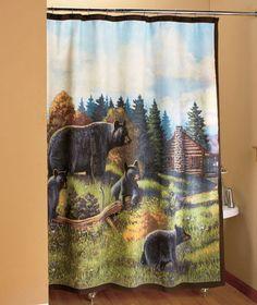 29 best bear shower curtain images bath shower bathroom ideas rh pinterest com