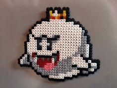 Roi Boo de Super Mario Pixel Art perle aimant