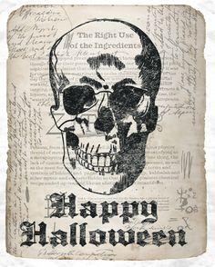 Auch Tote tragen Brillen8) Happy Halloween Print // $15