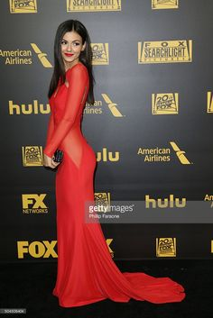 +++ +++ New FOX & FX +++ +++ ________ Carpet Event ________ Actress Victoria Justice attends Fox And FX's 2016 Golden Globe Awards Party on January 10, 2016 in Beverly Hills, California.